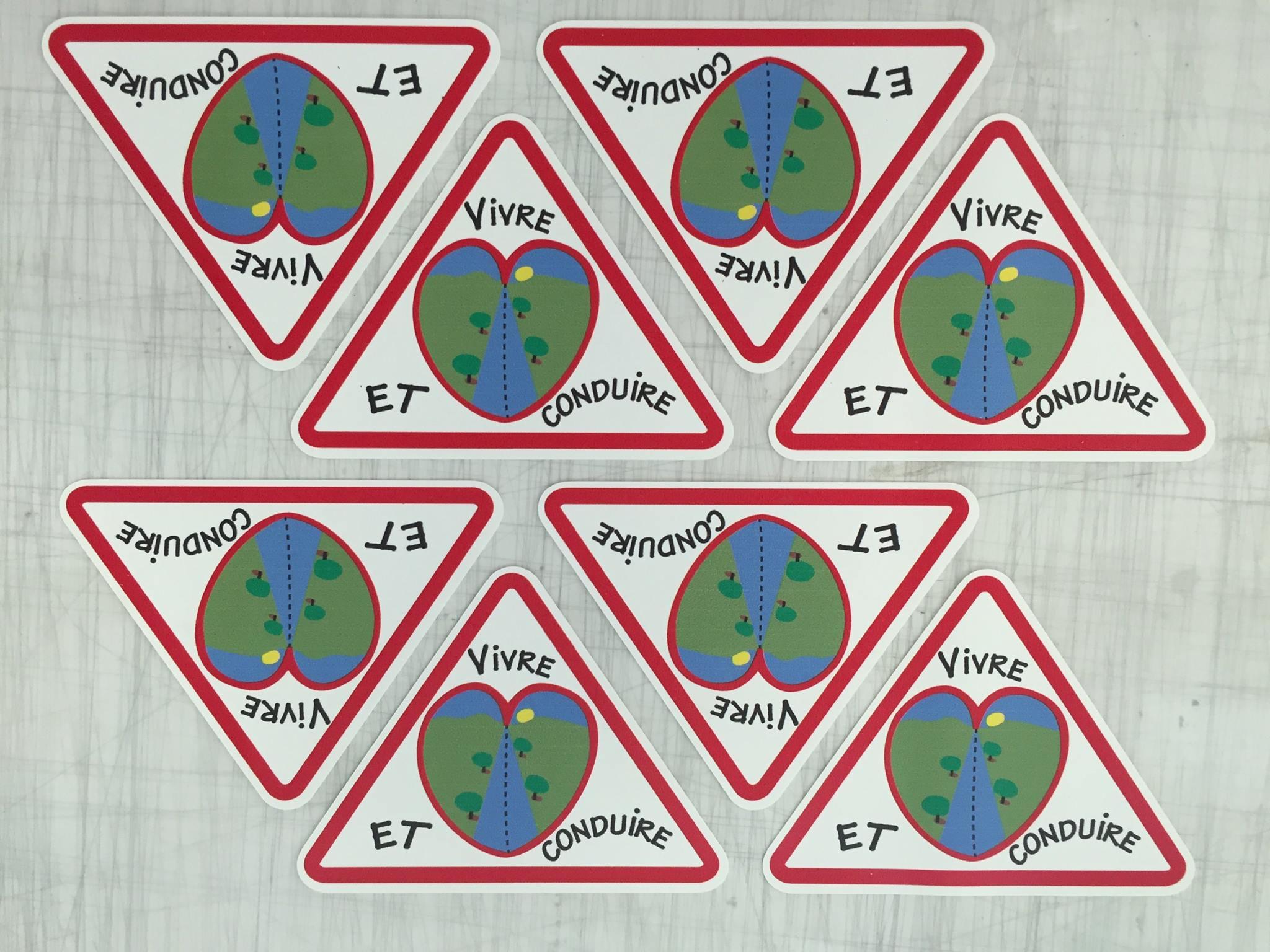 Panneaux association Vivre et Conduire